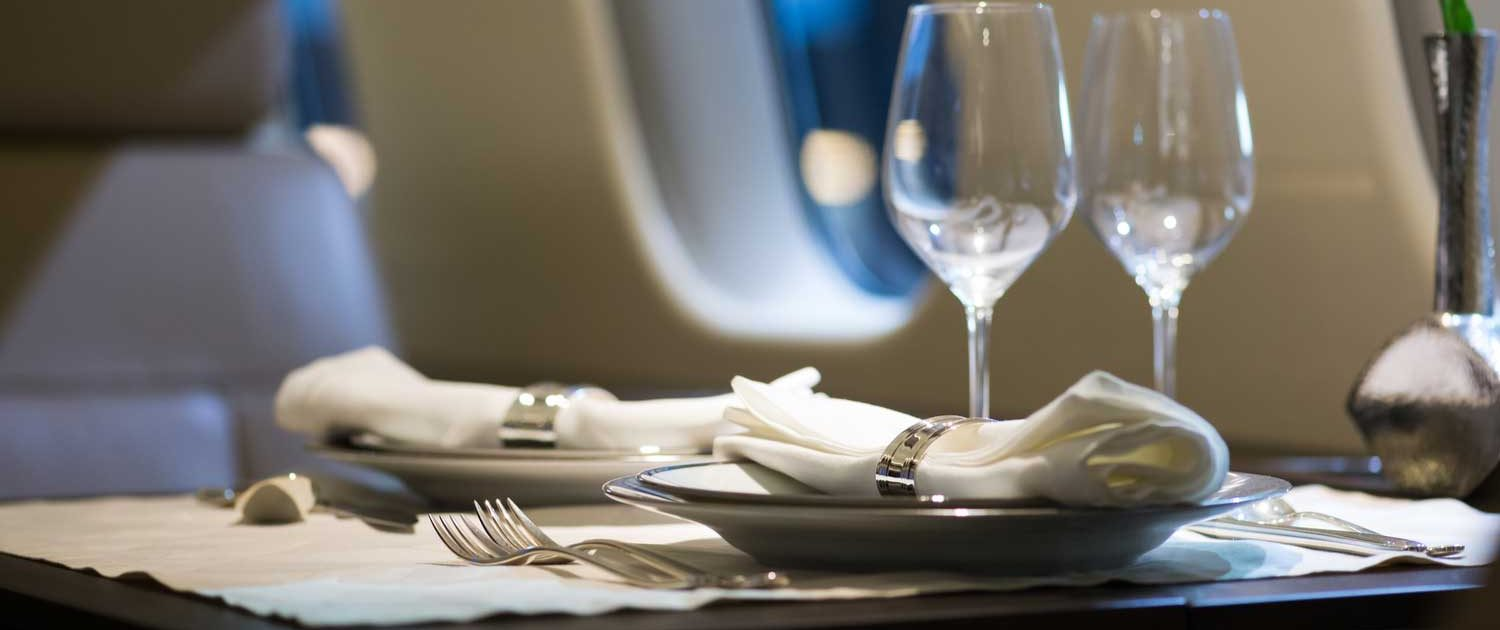 Luxury meal on airline